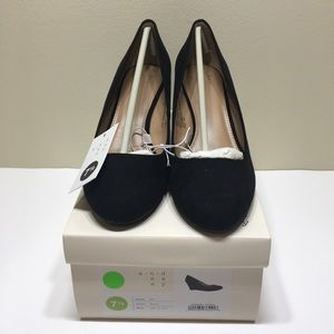 Women's A New Day Dot Round Toe Wedge Pumps
